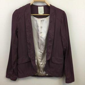 Anthropolgie Elevenses Whitby Purple Blazer - 4